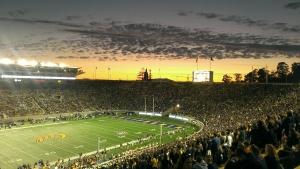 Memorial Stadium Sunset